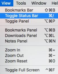 Screenshot showing where to Remove status bar