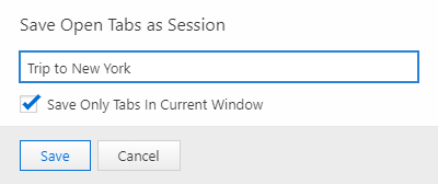 Save open tabs as session