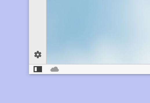 Sync icon on the Status Bar