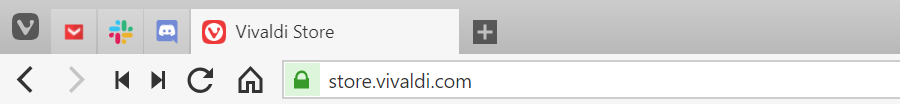 Tab bar with pinned tabs