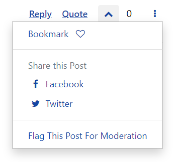 Bookmark or Flag a post