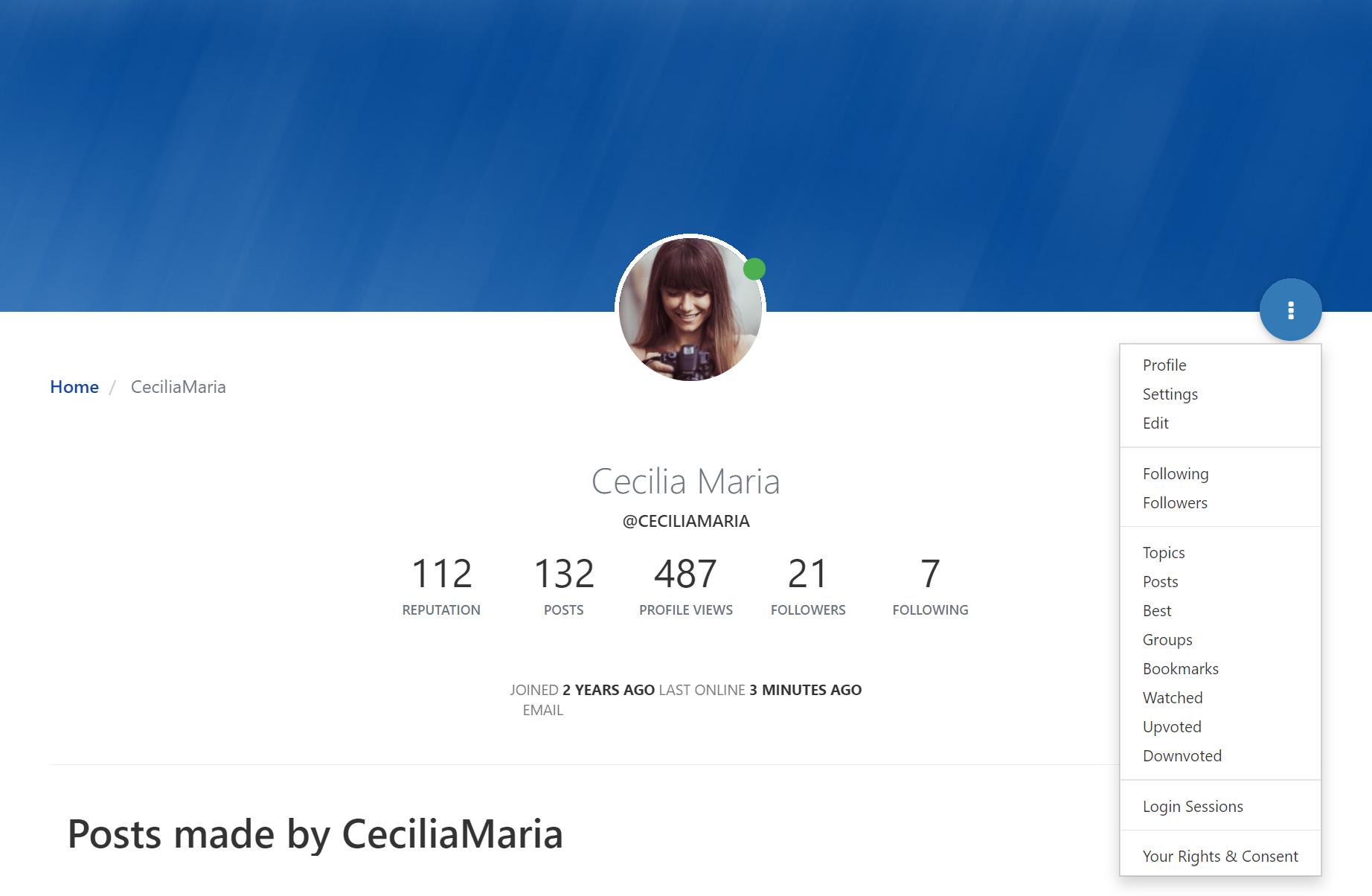 Forum profile