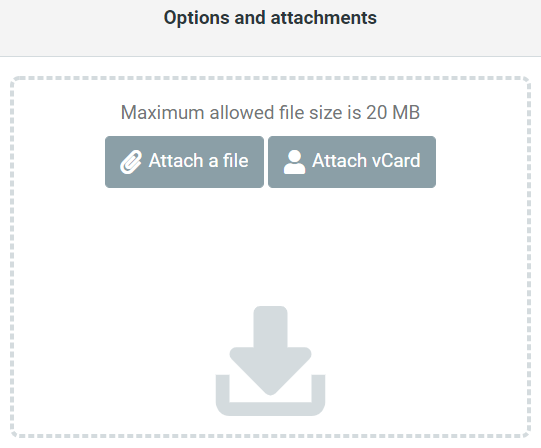 File attachment menu