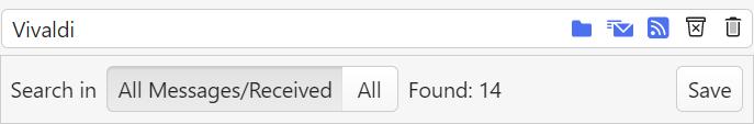 Search bar in Vivaldi Mail